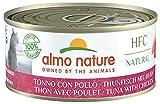 almo nature made in italy per gatto - hfc natural con tonno e pollo, 150 g