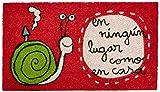 Laroom Felpudo, Vinilo, Rojo, 40 x 70 cm