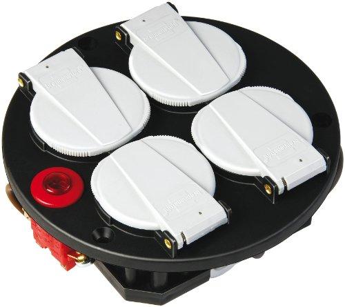 Brennenstuhl Steckdoseneinsatz-Montageplatte 4-fach IP20 230V/16A mit Thermostat, 1081080