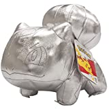 Pokémon 25th Celebration 8' Silver Bulbasaur Plush - Limited Edition Shiny Silver Stuffed Animal Toy - 2+