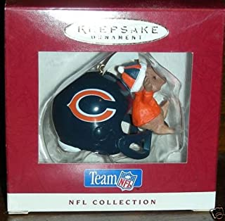 NFL Football Collection Chicago Bears Helmet Hallmark Ornament 1995