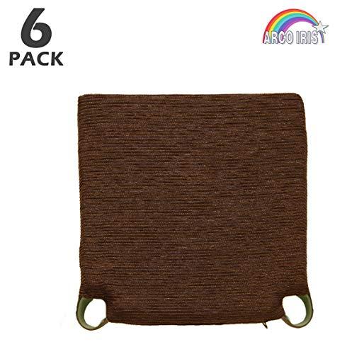 Arcoiris Pack 6 Almohadillas para sillas 40x40cm, Relleno de