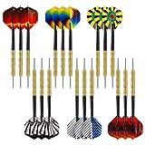 Accmor 18 pcs Steel Tip Darts, Darts Metal Tip Set, Professional Metal Darts for Dartboard, 14g Steel Darts