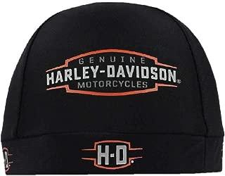 Men's Velocity H-D Logo Stretchy Skull Cap, Black SK31430