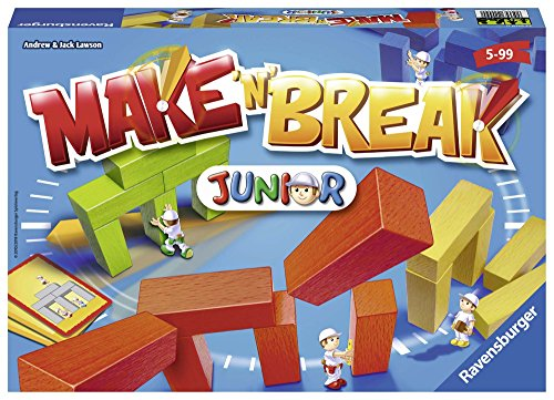 Ravensburger 22009 Make 'n' Break Junior, Juego de Mesa para Niños, 2-5 Jugadores, Edad Recomendada 5+