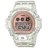 Ladies' Casio G-Shock S-Series Rose Gold Transparent Resin Watch GMDS6900SR-7