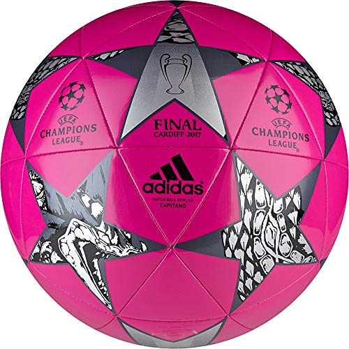 adidas Erwachsene Finale Cardiff Capitano Fußball, Shock Pink S16/Black/Night Met F13, 5