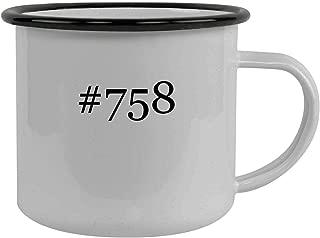 #758 - Stainless Steel Hashtag 12oz Camping Mug, Black
