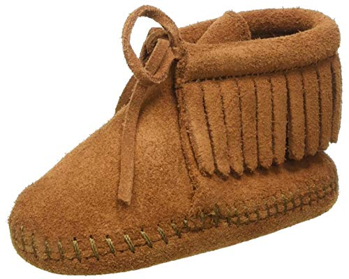 Minnetonka Fringe Bootie (Infant/Toddler),Brown,1 M US Infant