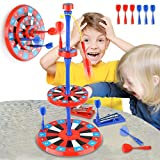 kidpal Magnetic Dart Board for Kids, Excellent Indoor Game for Party, 6PCS Magnetic Darts with Launchers,...