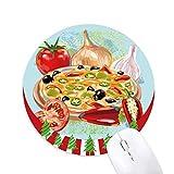 Pizza Italien Tomato Foods Knoblauch Rund Gummi Maus Pad Weihnachtsdekoration