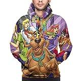 Scooby Doo - Sudadera con capucha para hombre, estampado en 3D, color negro - - XX-Large