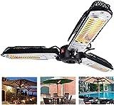 WEUN Calentador de sombrilla de Patio eléctrico Plegable al Aire...