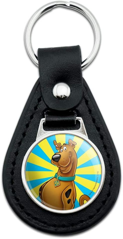 Max 54% OFF Black Leather Scooby-Doo latest Character Keychain