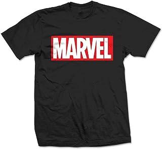 Marvel Comics Box Logo Camiseta para Hombre
