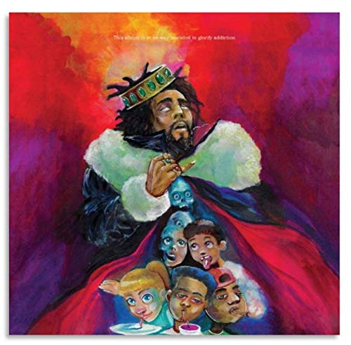 suuyar J.Cole Music Album Cover Posters Canvas Art Poster and Art Picture Family Bedroom Decor Posters-60x60cm No Frame