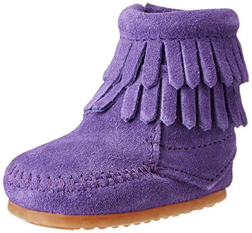 Minnetonka Minnetonka Baby Mädchen Doublefringebootie Lauflernschuhe, Violett (Purple), 17 EU