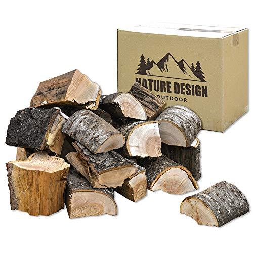 ソロキャンプ 焚き火用 ブロック薪 広葉樹 10cm 約6~7kg (約20ピース)