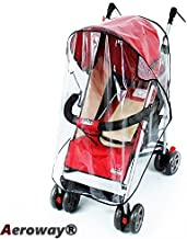Aeroway Universal Clear Waterproof Rain Cover Wind Shield Fit Most Strollers Pushchairs