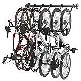 FLEXIMOUNTS Bike Rack for Garage, Heavy-Duty 6-Bike Wall Mount Hanger for Home & Garage, Holds Up to 300lbs