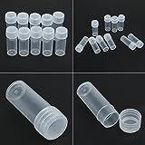 Demiawaking 50Pcs 5g Volumen Kunststoff Probe Flasche 5ml kleine Flasche Phiole Behälter