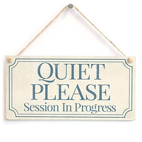Meijiafei Quiet Please Session in Progress - Functional Small Office/Home Treatment Room Hanging Door Sign 10'x5'