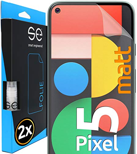 [2 Stück] Entspiegelte 3D Schutzfolien kompatibel mit Google Pixel 5, hüllenfre&liche Matte Bildschirmschutz-Folie, Schutz vor Dreck & Kratzern, kein Schutzglas - smart Engineered