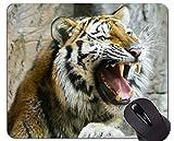 Yanteng Cojín de ratón del Fondo de la Pintura del Tigre, Animal de Oficina