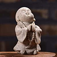 TEAYASON 創造的な素敵な弥勒像、屋内彫刻ホームオフィスの装飾品の最高の誕生日、砂岩の樹脂僧弥勒仏5.5 * 3.5 * 7Cm,D,5.5 * 3.5 * 7Cm