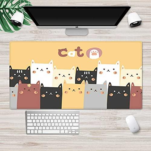 NZTCRFP Alfombrilla De Ratón Gaming Pintura De Gato Animal De Dibujos Animados...