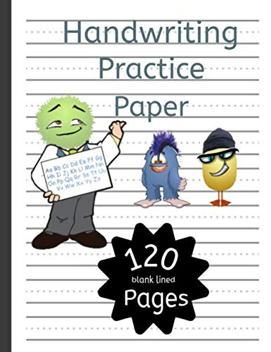 Handwriting Practice Paper: Practice printing paper dotted line notebook for kids