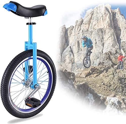 Bicicletas Monociclo Bicicleta Ajustable 16 '18' 20 'Entrenador De Ruedas Unicycle, Balance De Ciclo A Prueba De Llantas Para Niños Para Principiantes Para Niños Adulto Ejercicio Divertido Fitness, Az