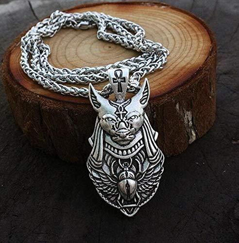 1 Stück Ägyptischer Skarabäuskäfer Anhänger Vintage Pharao Halskette Anhänger Skarabäus Flügel Anhänger Anubis Kopf 55Cm
