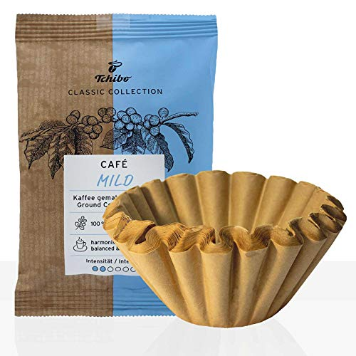 Tchibo Cafe Classic Mild 42 x 60g Kaffee gemahlen + 50 Korbfilter, Servicepaket