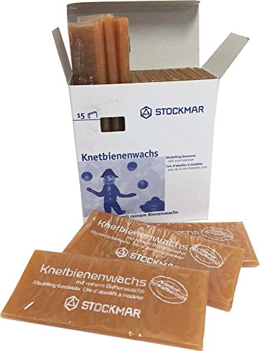 Stockmar Knetbienenwachs - Einzelfarben - 15 Tafeln 100x40x6 mm, Bienenswachsfarbe