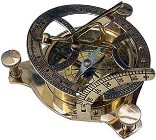 Benzara Brass Sun Dial Compass in Box