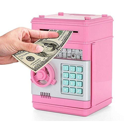 Money Banks, Electronic Piggy Bank Mini ATM Password Money Bank Cash Coin Bank for Kids Children Birthday,Pink