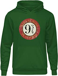Harry Potter King's Cross 9 3/4 Yeşil Kapşonlu Hoodie