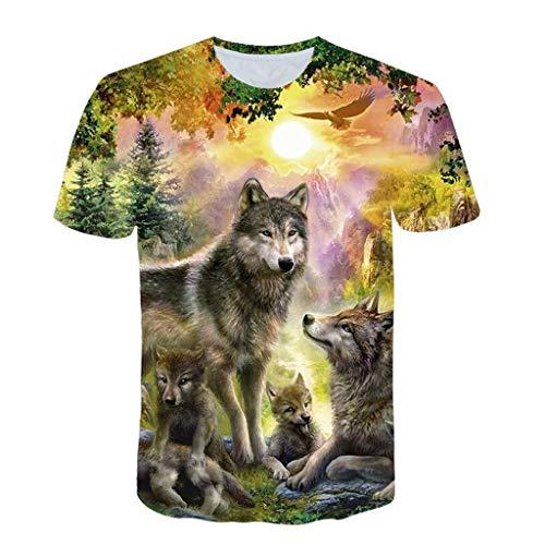 VPASS Camiseta para Hombre, Verano Manga Corta Hombre Unisex