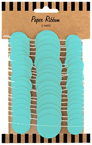 Party Partners Design Circle Ribbon Gift Wrap Accent or Wall Decoration, Aqua