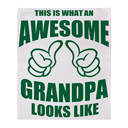 "CafePress Awesome Grandpa Soft Fleece Throw Blanket, 50""x60"" Stadium Blanket"