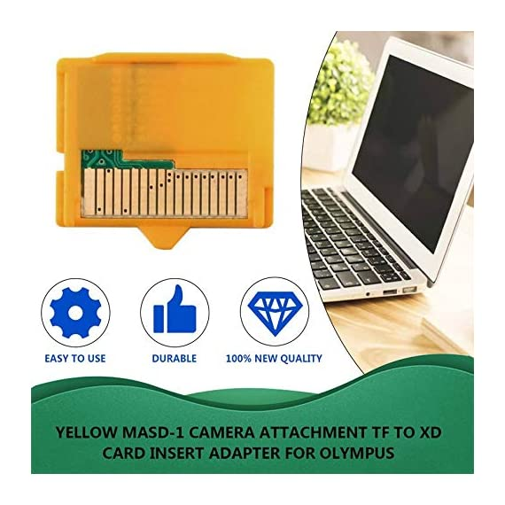 Rodalind yellow 25 x 22 x 2mm(l x w xh) 1pcs micro sd attachment masd-1 camera tf to xd card insert adapter for olympus 7 it is compact and portable tf(micro memory card) to xd camera card adapter prevent your camera and card from damage