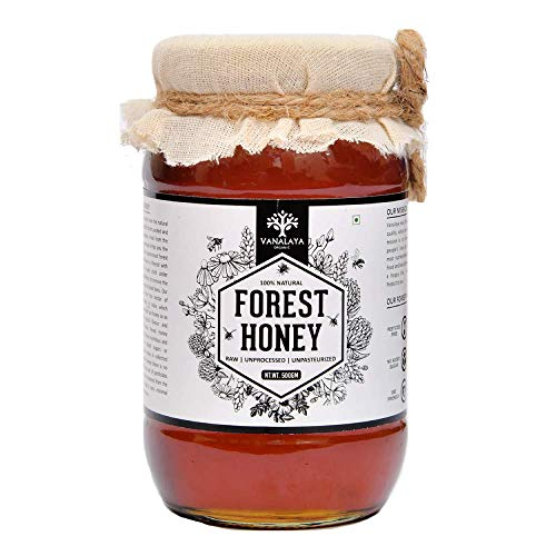 Vanalaya Forest Honey Raw Unprocessed Unpasteurized Pure natural organic honey for weight loss (500G)