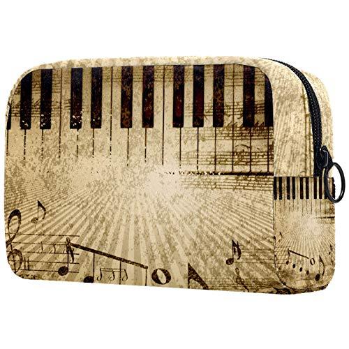 Regalos para Hombres Mujeres Estuche de Maquillaje Estuche para artículos de tocador Estuche pequeño para cosméticos - Partitura de Piano, Regalo del día de la Madre