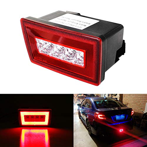 iJDMTOY Red Lens 3-In-1 LED Rear Fog Light Kit For 11-up Subaru Impreza WRX/STi, Functions as Tail Lamp, Brake Lamp, Backup Reverse Light (Includes Wire Harness & Mounting Bracket)
