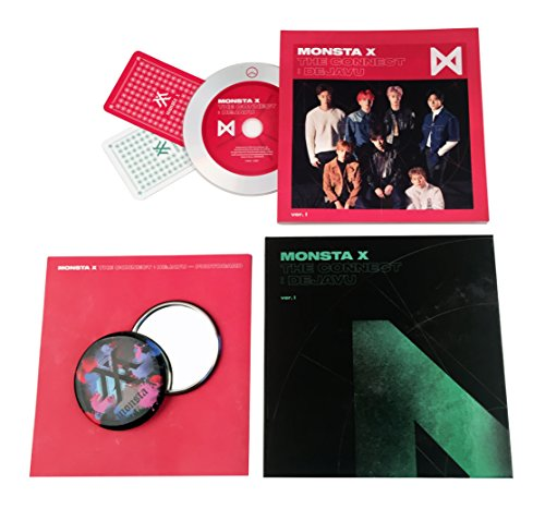 MONSTA X Album - THE CONNECT : DEJAVU [ Ver. I ] CD + Booklet + 2 Photocards + FREE GIFT / K-POP Sealed