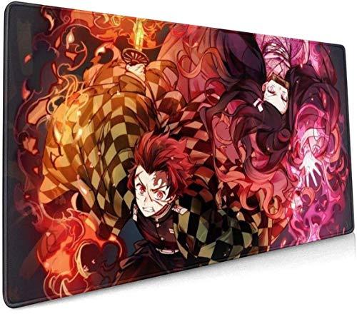 Demon Slayer Mouse Pad 15.8x35.5 in Multipurpose Japan Anime Mousepad Desk Mat for Gamer Office Home (40x90cm) B