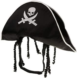 Amosfun Pet Pirate Hat Dog Cat Captain Cap Halloween Pirate Cosplay Costume Halloween Party Hat Dress Up Costume Accessories