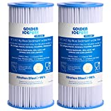 GOLDEN ICEPURE 5 Micron 10' x 4.5' Whole House Big Blue Sediment Pleated Water Filter Compatible for DuPont WFHDC3001, GE FXHSC, Culligan R50-BBSA, Pentek R50-BB, W50PEHD, GXWH40L, CP5-BBS 2-PACK