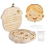 Spanish texto bebé dientes caja, Aitsite save cajas de madera personalizada caja de recuerdos de hoja caduca, personalizar personalizada bebé dientes caja (Niña)